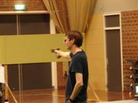 Wiebe de Jong in actie