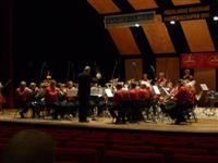 Brassband De Bazuin tijdens de uitvoering