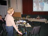Ingrid de Jong houdt een presentatie over de Fugelwacht Donkerbroek